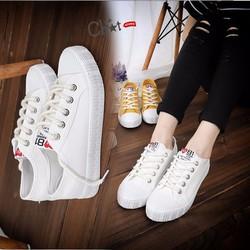 Giày Sneaker Nữ Trắng Cổ Thấp Năng Động