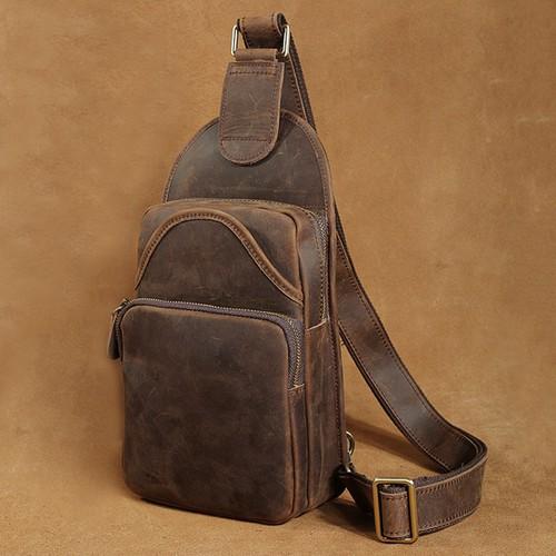 Túi đeo ngực da bò nam BigBang 315