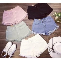 Quần short jeans tua rua