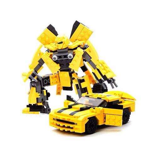 Bộ xếp hình robot biến hình Transformers BumbleBee 221 psc