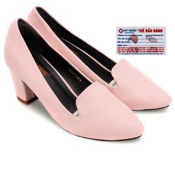 Giày nữ Huy Hoàng cao cấp kiểu vuông màu hồng phấn