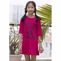 Đầm suông in Họa tiết Tiger Bé -Hồng Sen