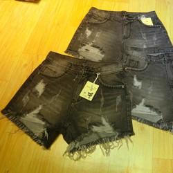 short jean xám đen caod rách 33~35