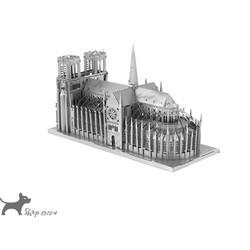 Đồ chơi lắp ghép mô hình 3D bằng thép nhà thờ Paris