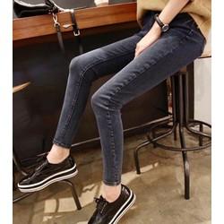 Quần jeans trơn co dãn chuẩn phom