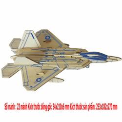 Đồ chơi lắp ráp 3D mô hình máy bay F22