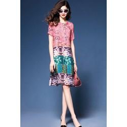 Đầm trung niên phom suông size lớn nhập quảng châu
