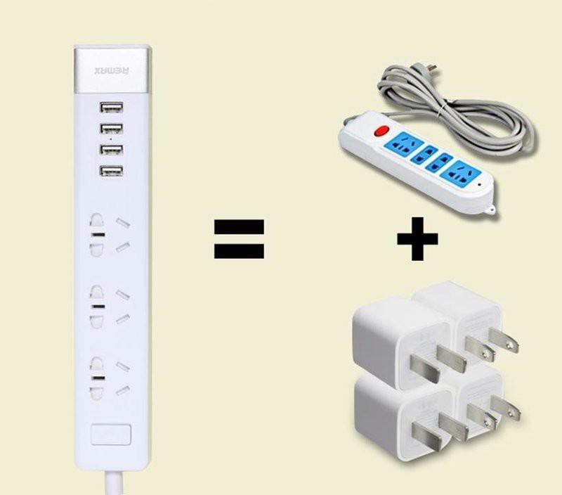 Ổ CẮM ĐIỆN RM CHÍNH HÃNG 4 CỔNG USB, 3 Ổ 3 LỔ, 3 Ổ 3 LỔ 1