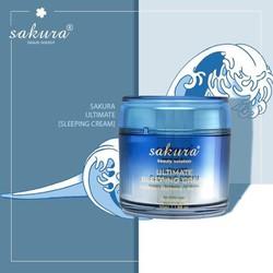 Mặt nạ ngủ trẻ hoá làn da sakura Ultimate Sleeping Cream
