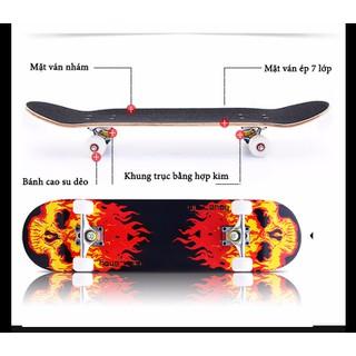 Ván trượt mặt nhám bánh cao su cao cấp - Skateboar cao cấp thumbnail
