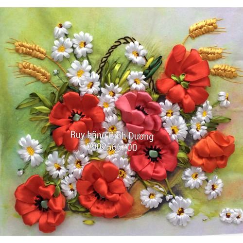 tranh thêu ruy băng hoa 11 - 4917498 , 6698993 , 15_6698993 , 205000 , tranh-theu-ruy-bang-hoa-11-15_6698993 , sendo.vn , tranh thêu ruy băng hoa 11