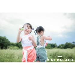 Jumpsuit bé gái thiết kế Mini Palaise hàng chính hãng