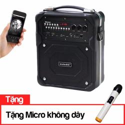 Loa bluetooth karaoke du lịch Daile S10 tặng kèm micro không dây
