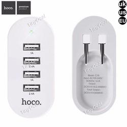 [Chính hãng] Cốc Sạc Hoco 4 Cổng USB C19