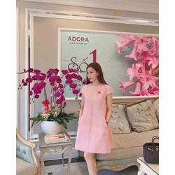 Đầm suông hồng 2 túi