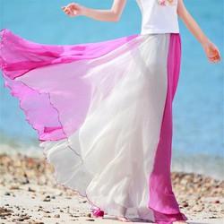 váy bohemieng phối màu Mã: VN590 - HỒNG