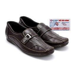 Giày mọi nam Huy Hoàng da bò màu nâu đen