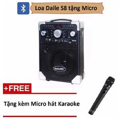 Loa Bluetooth DU LỊCH GIA ĐÌNH Daile S8 tặng kèm micro không dây