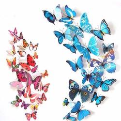 Combo 12 con bướm hít nam châm dùng trang trí nhà cửa..