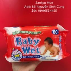 KHĂN GIẤY ƯỚT BABY 80 TỜ