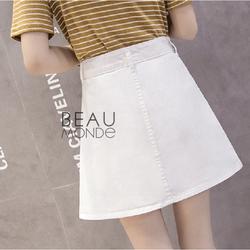 Chân váy jean, chân váy bò cực đẹp cho bạn gái năng động, trắng