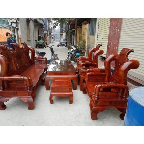 bộ bàn ghế phòng khách tần thủy hoàng gỗ hương vân tay 14