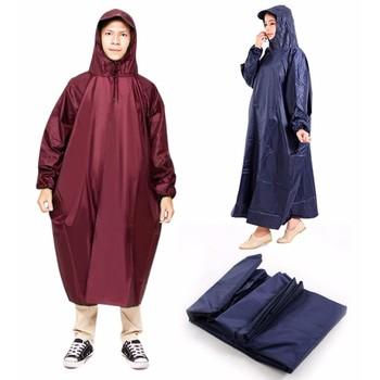 Áo mưa vải dù chống thấm kín 2 bên không xẻ tà - loại 2