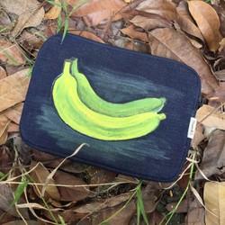 IBO07 – Ori Túi đựng iPad mini jean vẽ chuối