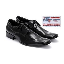 Giày tây nam Huy Hoàng da bò màu đen