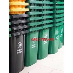 Thùng rác nhựa 120 lít, thùng rác 2 bánh xe 0967788450