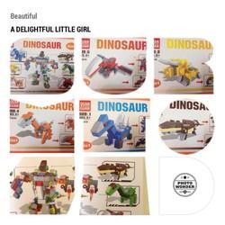 Bộ Lego 6 con khủng long biến hình Robot