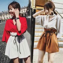 Set áo form rộng và quần short