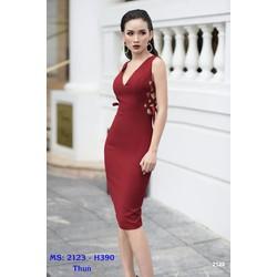 Đầm Body Đan Dây Eo Sang Trọng