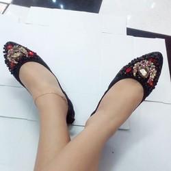 giày búp bê đính đá sang trọng