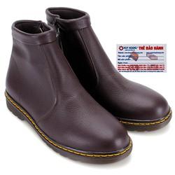 Giày boot nam Huy Hoàng màu nâu