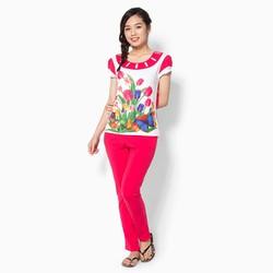 Set đồ thun quần dài hoa Tulip 045-01 Size L
