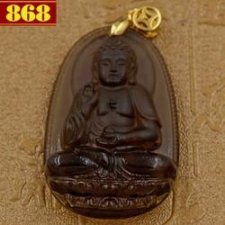 Mặt Phật A Di Đà Obsidian