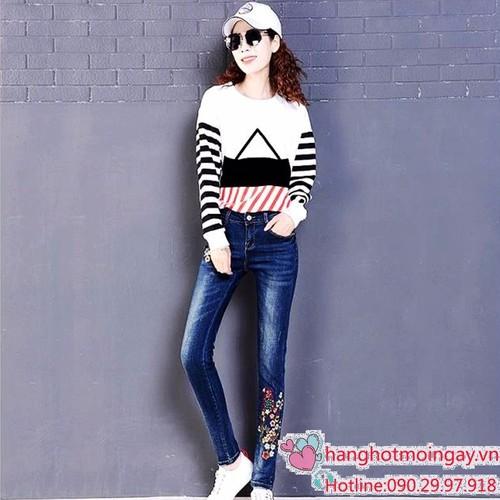 Quần jeans nữ thêu - 5069235 , 6734277 , 15_6734277 , 280000 , Quan-jeans-nu-theu-15_6734277 , sendo.vn , Quần jeans nữ thêu