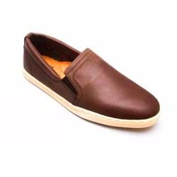 Giày Thể Thao Nam #21N Màu Nâu Da Bò Thời Trang