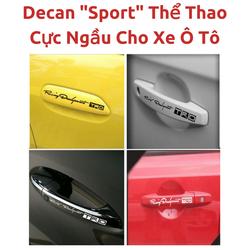 Tem Chữ Sport Kim Loại Dán Xe Ô Tô
