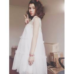 Đầm ren Hàn Quốc cho bà bầu trẻ trung