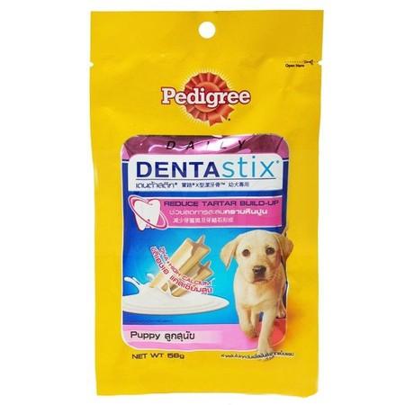 combo 12 gói bánh xương chăm sóc răng cho chó - PEDIGREE PUPPY 56gr 1