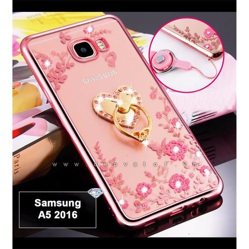 Ốp lưng Samsung A5 2016 dẻo hình hoa
