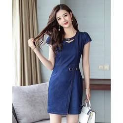 Đầm Jean Dáng Suông Tay Con