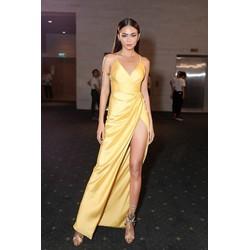 Chuyên sỉ - Đầm dạ hội hai dây xẻ đùi cao sexy tôn dáng