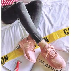 Giày bata QC phối da lộn | giày bata nữ