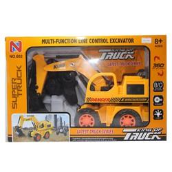 Ô tô điều khiển No.602 - Xe cẩu Super Truck màu Vàng