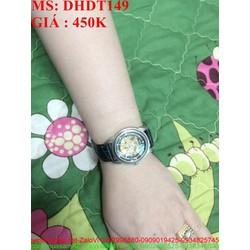 Đồng hồ đeo tay nam dây da cao cấp lộ máy chạy sành điệu DHDT149