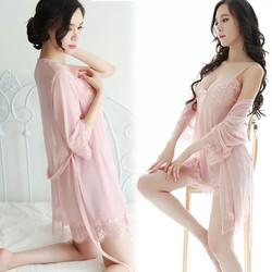 Đầm ngủ kèm áo khoát