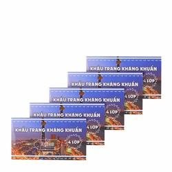 Bộ combo 5 hộp khẩu trang y tế kháng khuẩn 4 lớp HyNam - Trắng